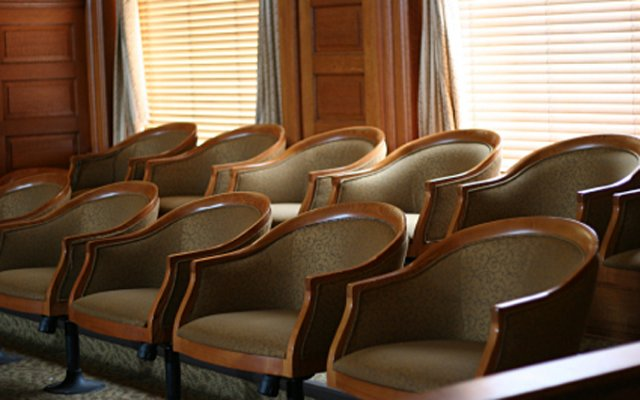 A section of jurors seats
